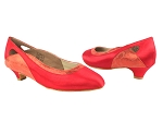 CD5505 Red Satin Cuban Heel