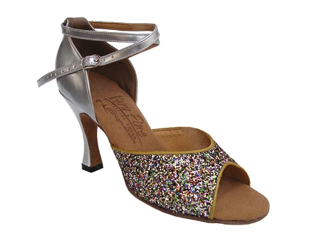 S9220 Rainbow Sparkle & Silver Leather