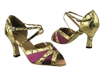 2712 111 Purple Satin_57 Light Gold Leather Trim_1650 BackStrap