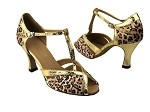 2707 Leopard Satin & Ultra Gold Trim
