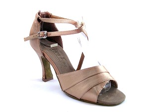 "1659 Brown Satin with 3"" Heel in the photo"