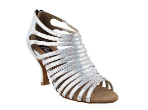 "CD3026 White with 3"" Flare heel in the photo"