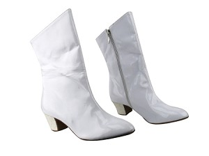 PP205A Ankle Boot BA77 White Patent_BF59 White Sparkle Heel