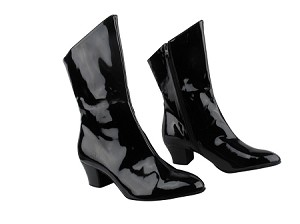 PP205A Ankle Boot Black Patent with 1.6