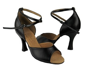 "S9220 Black Leather with 3"" Flare heel in the photo"