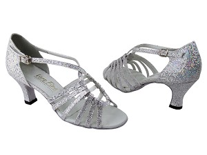 "1661 107 Silver Scale with 2.5"" Low Heel in the photo"