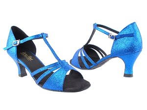 "1683 234 Blue Stardust with 2.5"" Heel in the photo"