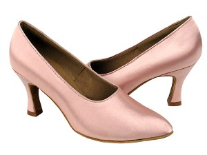 "C6901 Flesh Satin with 2.75"" heel in the photo"