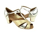 C6006 Gold Leather & Gold Scale & Cuban Heel