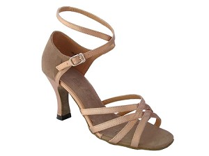1606 Brown Satin & Brown Nubuck