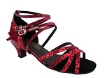 5008Mirage Red Sparkle & Red Patent