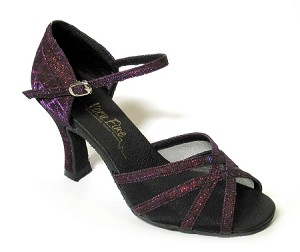 "6027 Purple Illusion with 3"" Heel in the photo"