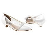 CD5502 White Satin Cuban Heel