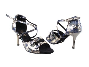 "1625BLEDSS Blue Granite with 3"" slim heel in the photo"