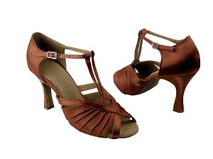 SERA2707 dark tan satin