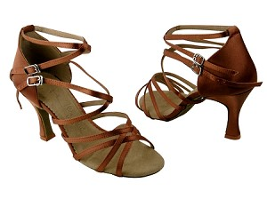 SERA5008 dark tan satin