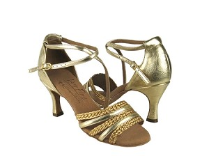 S9278 Gold Leather & Gold Braid