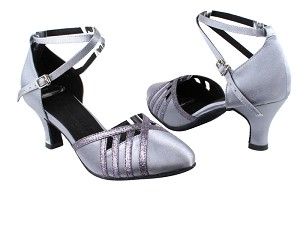 SERA3530 Grey Satin & Grey Stardust Trim