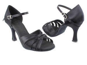 "SERA6721 Black Satin with 3"" heel in the photo"